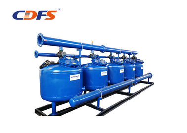 2 - 8 Bar Pressure 24 Inch Sand Filter , PLC Control Stainless Steel Filter
